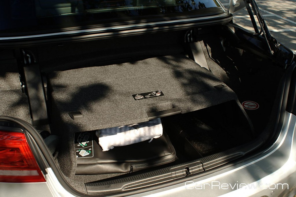 Don't expect a lot of trunk space with the 2012 VW Eos