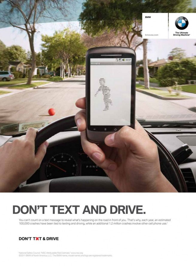 BMW Don't Txt and Drive Ad