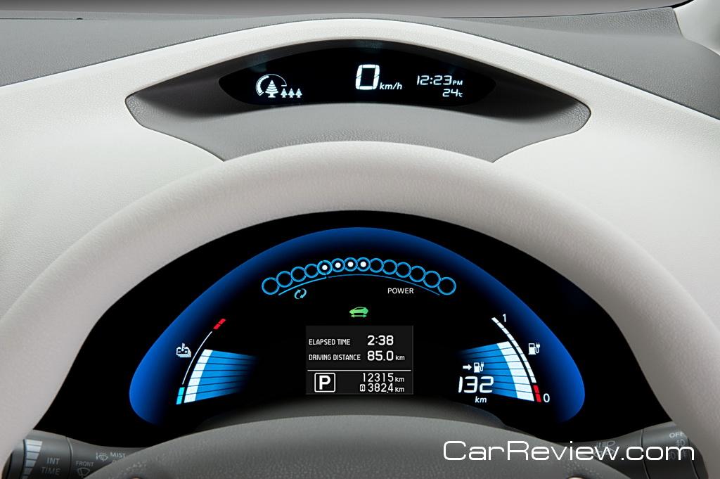 Nissan LEAF instrument display