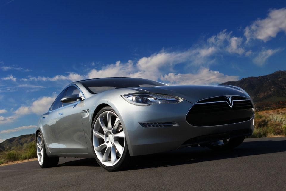 Tesla Model S Side Front