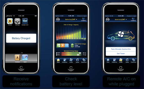 CarWings Nissan's iPhone app for the LEAF