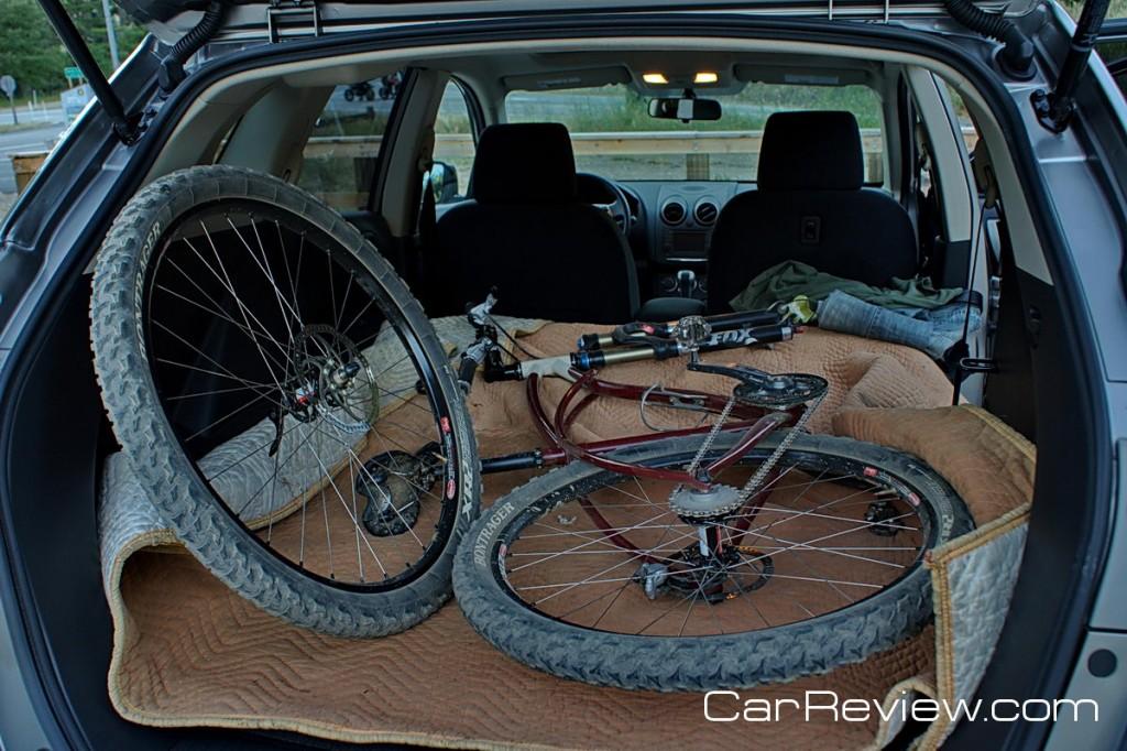 Nissan Rogue rear cargo area