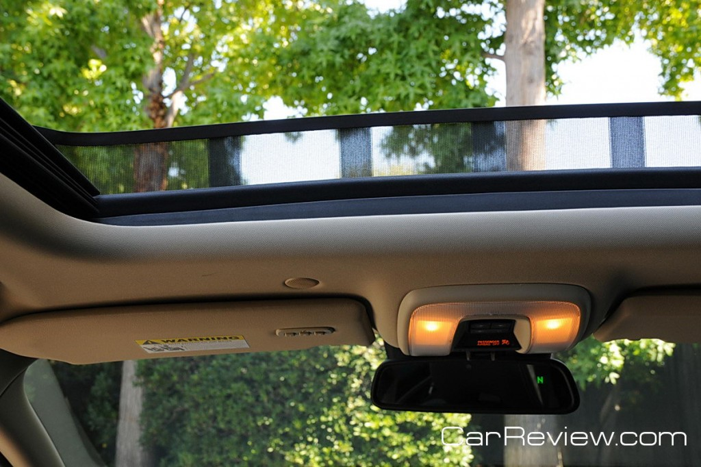Laminated panoramic sunroof