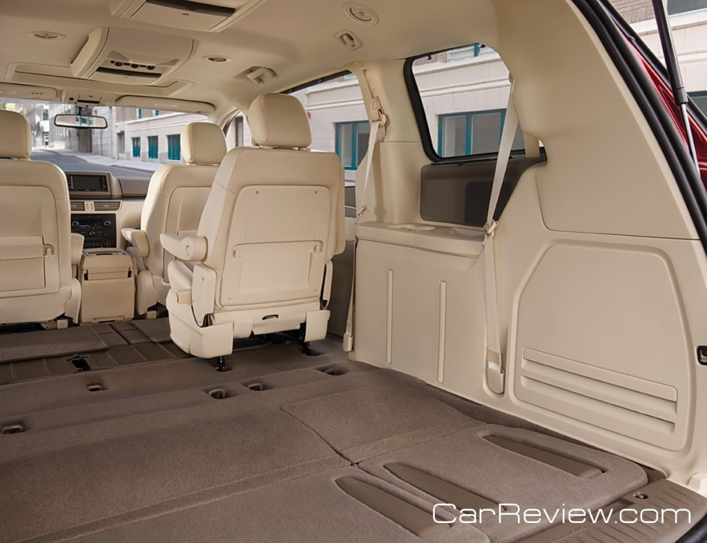 Optional powered 3rd row seats fold flat and have a tailgate function