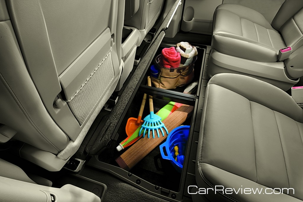 VW Routan - under floor storage bins