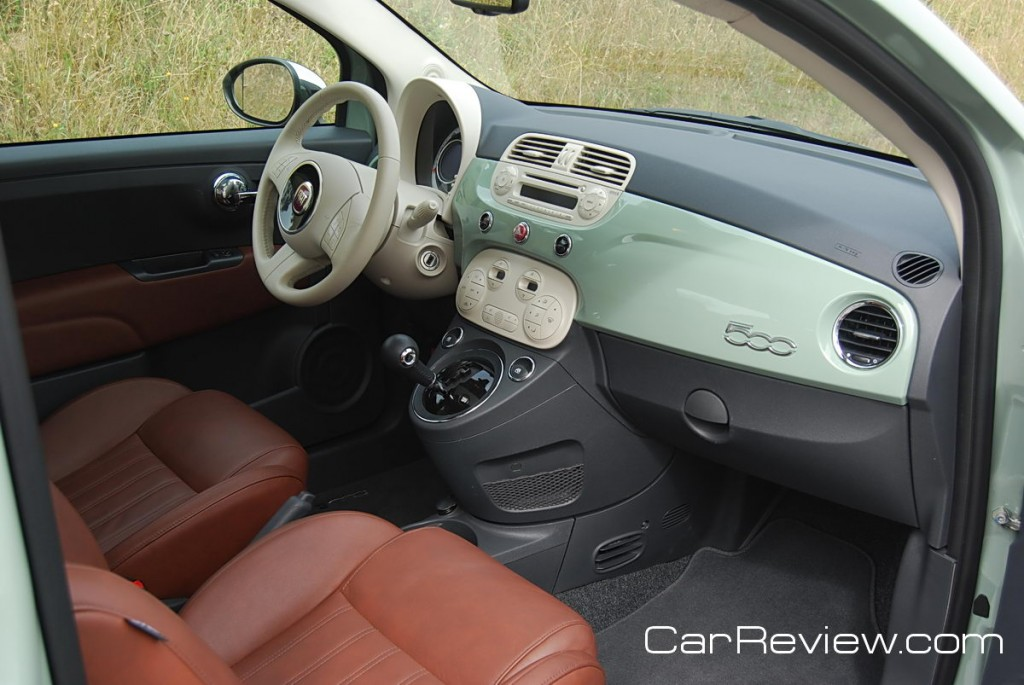 2012 Fiat 500 interior tailored for U.S. market