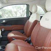 2012 Fiat 500 front seats