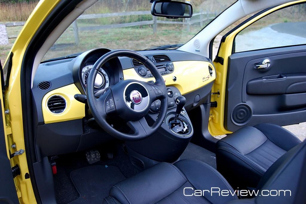 2012 Fiat 500c interior
