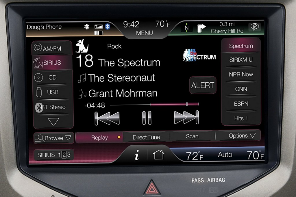 Lincoln MKX - MyLincoln Touch