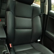 soft, perforated-leather front seats that provide the ideal balance of indulgence and support