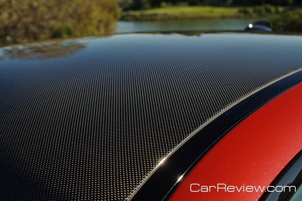 BMW M3 carbon fiber rooftop