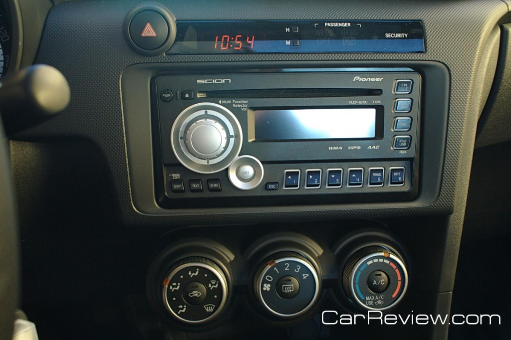 Pioneer sound system and iPod interface are excellent