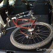Bikes with front wheel removed fit in the back