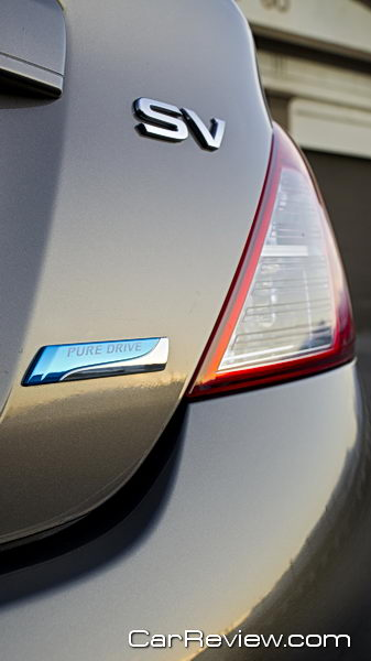 2012 Nissan Versa Pure Drive badge