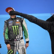 Ken Block takes a beating and keeps on drifting in Gymkhana Four