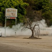 Ken Block Gymkhana 4 drifts through Bates Motel