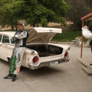Ken Block waits for Norman Bates