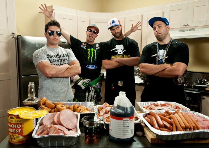 Ken Block and a cameo by the Epic Meal Time guys
