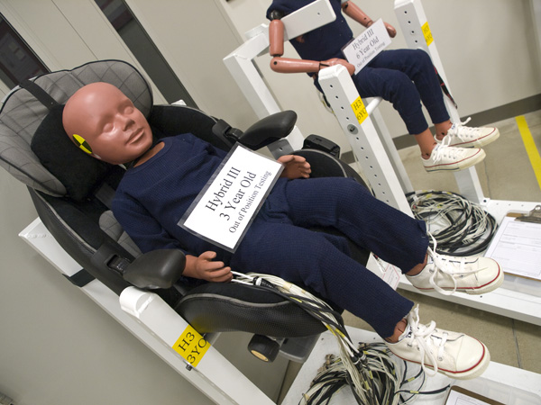 Toyota Technical Center - CSRC; crash test dummies
