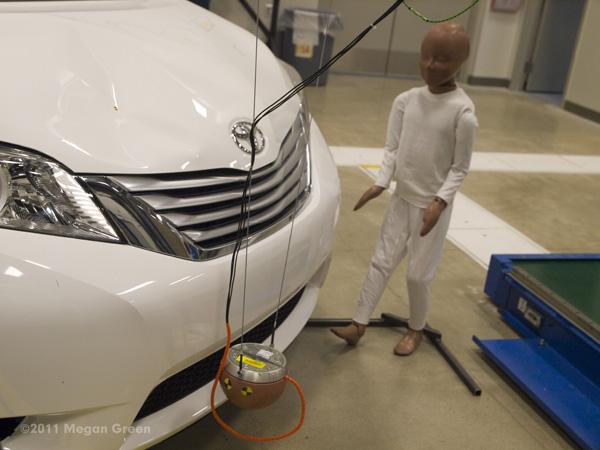 Toyota Technical Center - CSRC; child's head impact test