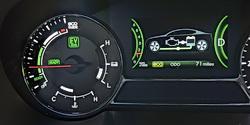 kia optima hybrid drivetrain eco monitor