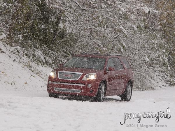 2012 GMC Acadia Denali Heavy Snow