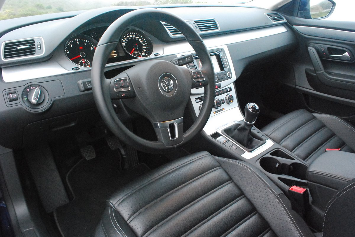 In many ways, the R-Line CC, with its swath of matte alloy interior trim,  carefully organized exterior airflow, and driver-oriented manual gearbox,  ...